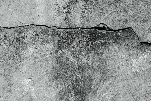Damaged mortar wall texture, full frame surface of exterior wall as background