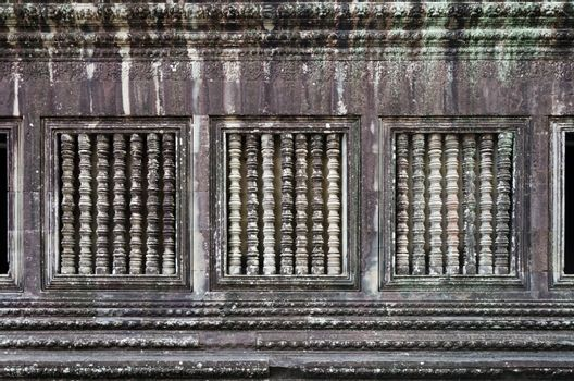 Wall of the Angkor Wat in Siem Reap, Cambodia.