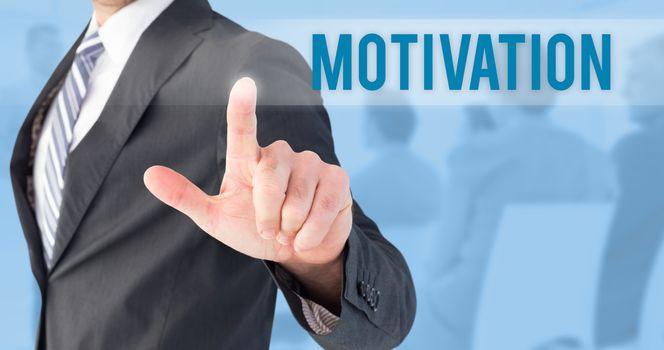 Motivation against blue background
