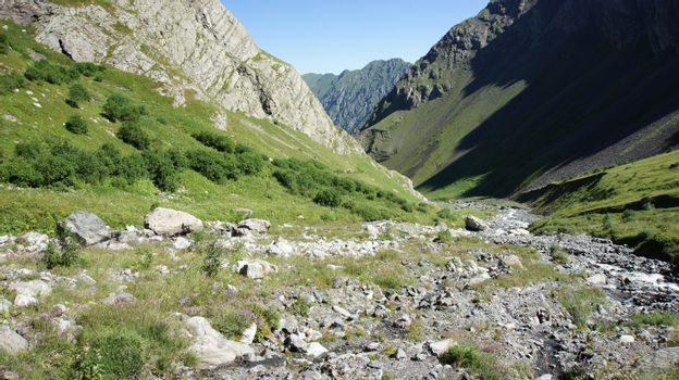 Valley at Greater Caucasus Mountain Range