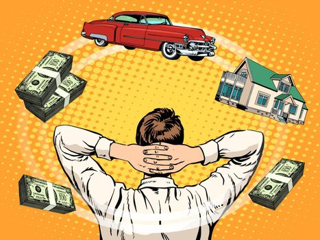 Business dreams buyer home car income money