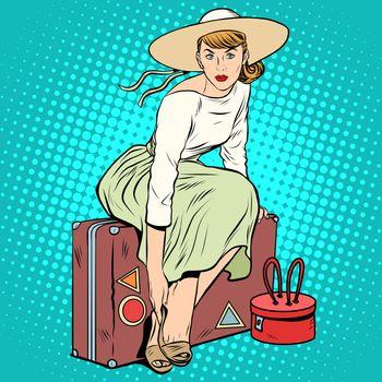 The girl passenger Luggage