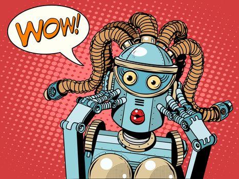 Wow beautiful woman robot
