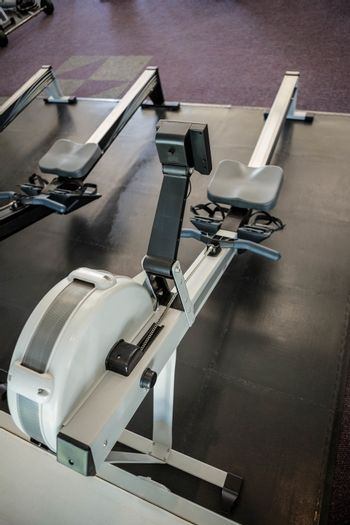 Close up of a Rowing machine