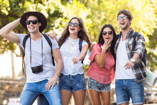 Hip friends during a trip