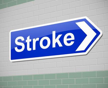 Illustration depicting a sign with a stroke concept.