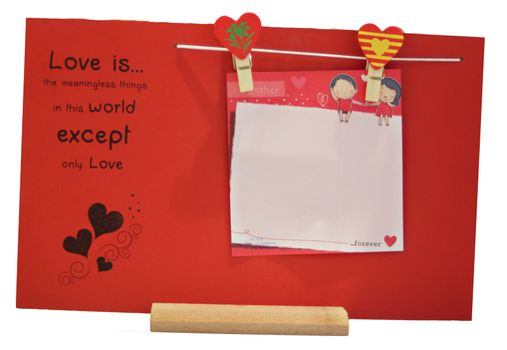 Love Note Stand Isolated - Valentine's Day