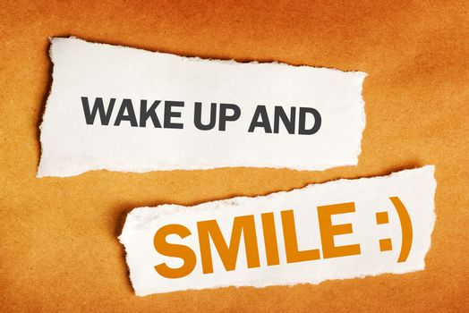 Wake up and smile motivational message