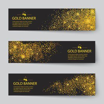 vector gold banner background