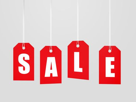 Red sale tag lable