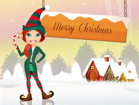 Elf at Christmas