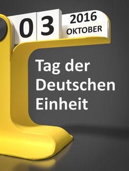 vintage calendar Day of German unity