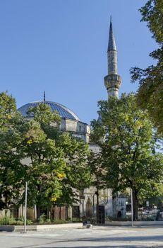 Fragment of the most beautiful mosque of the Balkan peninsula Ibrahim pasha