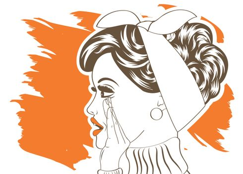Pop Art illustration of girl