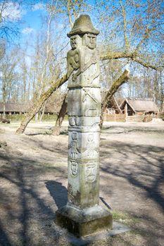 Statue of slavic pagan god Svetovid