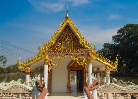 Buddha Pavilion in Lake