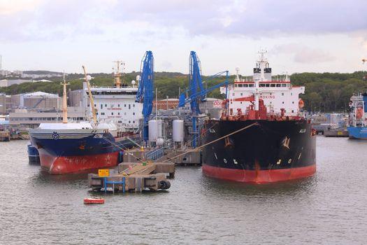 Oljetankers i Gøteborg havn