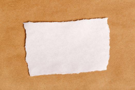 Scrap paper piece as copy space