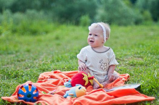 Little smiling girl portrait