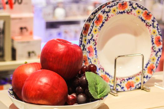 Apple and Grape promote dishes.