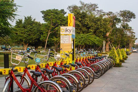 Bike parking, Thammasat University, Thailand