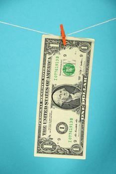 US dollar stagnation illustrated over blue