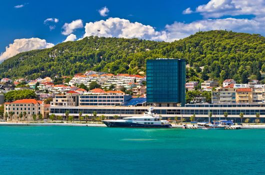 Yachting waterfront of Split and Marjan view