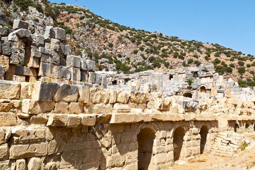 in  myra  europe old roman  tomb stone