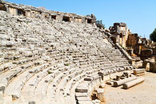 in  myra turkey   old roman   stone