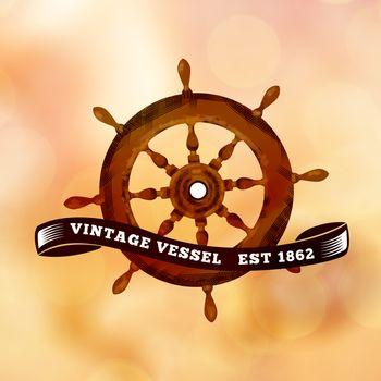 Composite image of vintage rudder