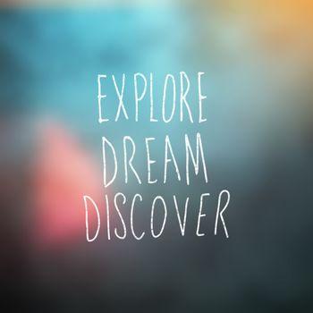 Composite image of explore dream discover word