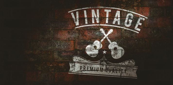 Composite image of icon vintage