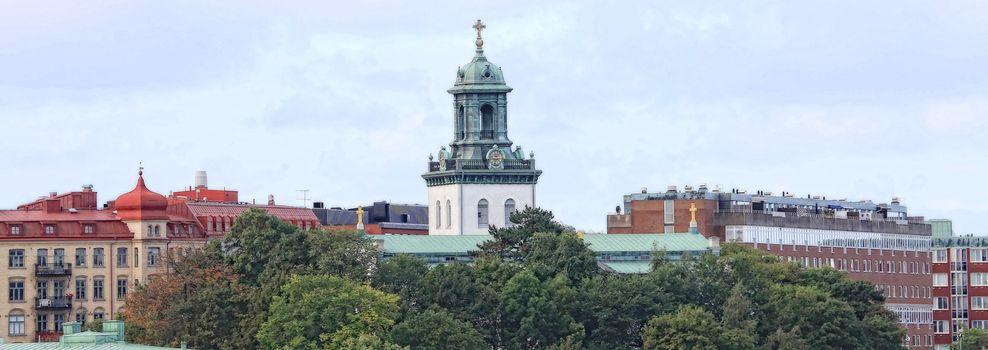 Carl Johans kyrka sett fra Gøteborg havn