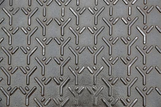 Background of closeup metal diamond plate