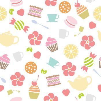 vector seamless tea background