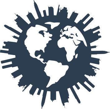 vector global panorama urban design