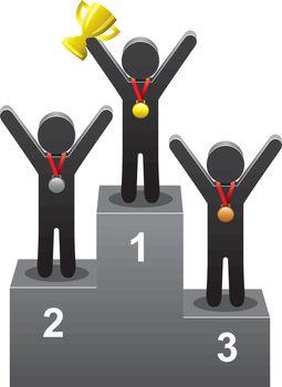 vector winners on the podium