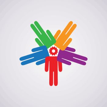 vector icon of leadership concept
