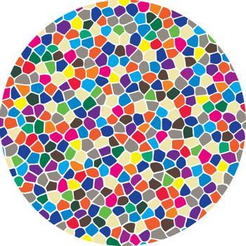 vector abstract colorful mosaic round pattern