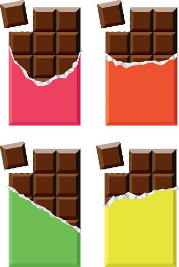 vector collection of chocolate bars