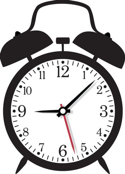 vector illustration of retro alarm clock