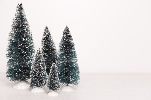 Miniature evergreen trees