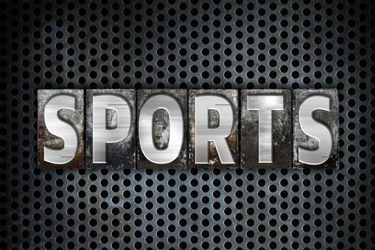 Sports Concept Metal Letterpress Type