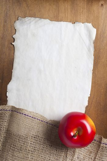 Sackcloth and paper tag