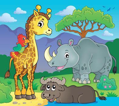 African fauna theme image 2