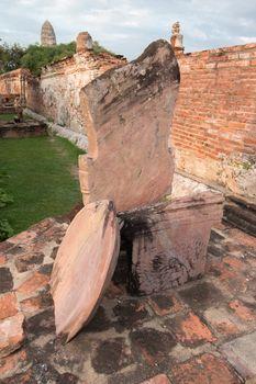 Boundary marker of Wat Mahathat Temple in Wat Mahathat, Ayutthaya, Thailand