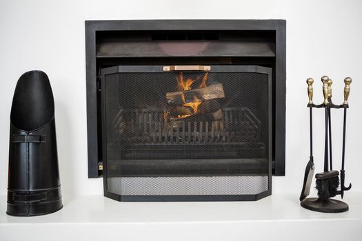 View of a fire place