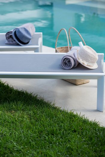 View of deck chairs