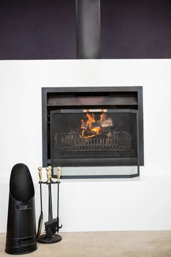 View of fire place