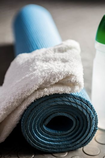 Rolled exercise mat